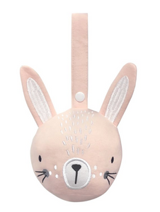 Pink Bunny Rattle Ball