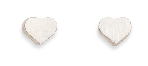 Big Heart Stud - Silver