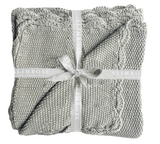 Mini Moss Stitch Blanket - Grey