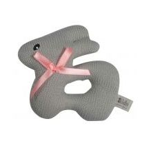 Knitted flat bunny rattle