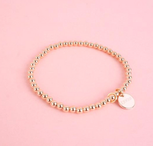 Stretch Disk Bracelet - Gold