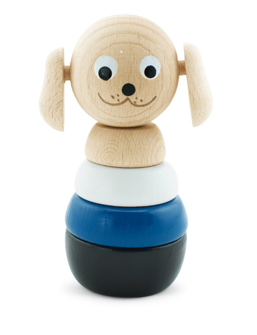 Wooden Stacking Puzzle - Dog