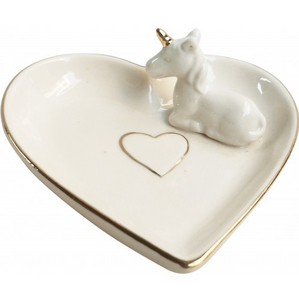 Heart Unicorn Trinket Dish