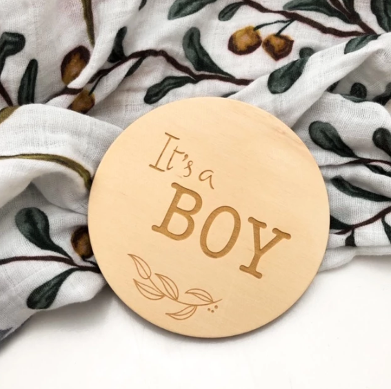 Milestone Plaque - 'It's a Boy'