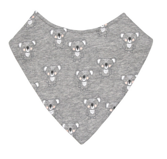 Mister Fly Grey Koala Dribble Bib
