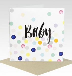 Baby Card - Pastel Spots