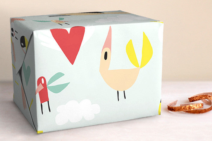 Love Bird Gift Wrap