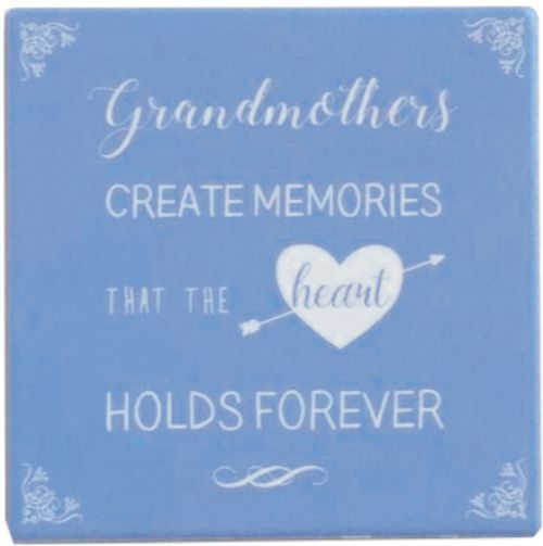 Ceramic Coaster - Grandmothers Create Memories