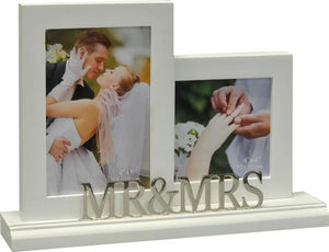 White Photo Frame for Mr. & Mrs.