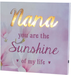 Nana LED Plaque