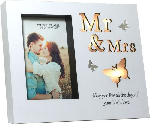 LED Light Photo Frame Mr. & Mrs.