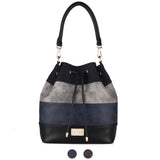 LA-004  Stripe Bucket Handbag ( 2 Colors )