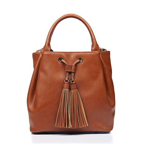 LA-013 Top Handle Bucket Handbag( 2 Colors )
