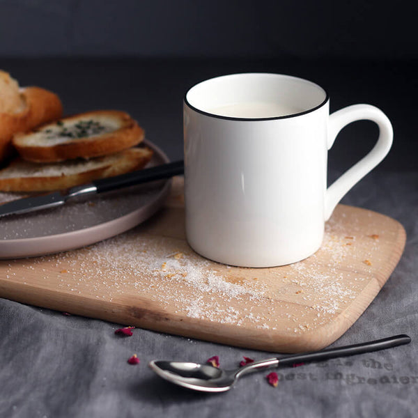 Ceramic Coffee mug white  breakfast