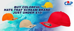 Buy colorful hats that scream brand just under $10! | Cap wholesalers