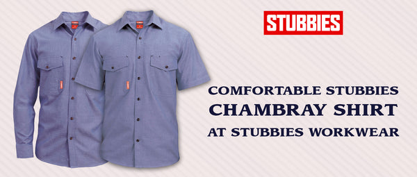 Comfortable Stubbies Chambray Shirt at Stubbies Workwear