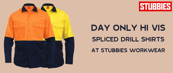 Day only Hi Vis Spliced Drill Shirts at Stubbies Workwear