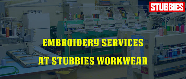 Embroidery Services at Stubbies Workwear
