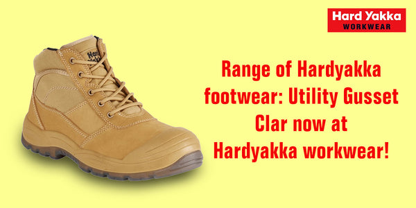 Range of Hardyakka footwear: Utility Gusset Clar now at Hardyakka workwear! Grab it today!