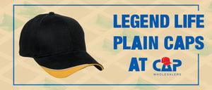 Legend Life Plain Caps at Cap Wholesalers
