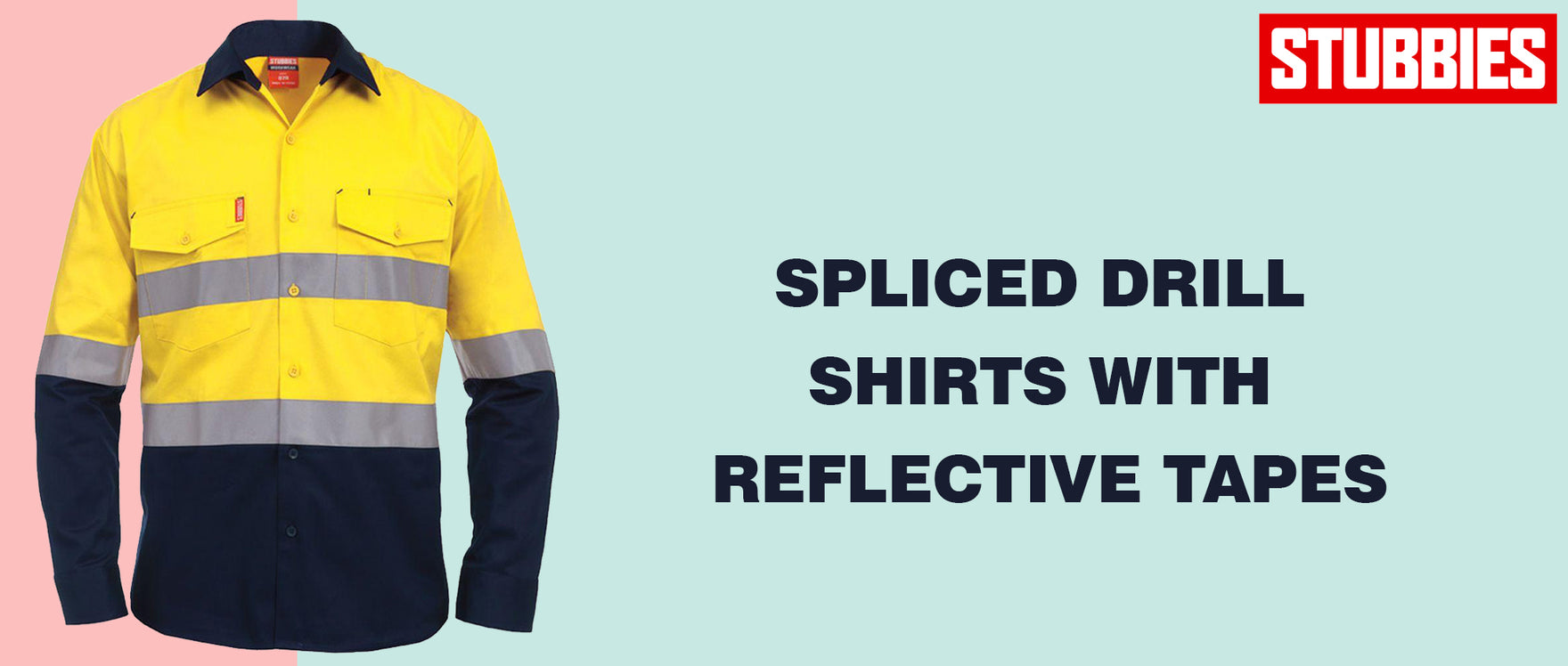 Spliced Drill Shirts with Reflective Tapes