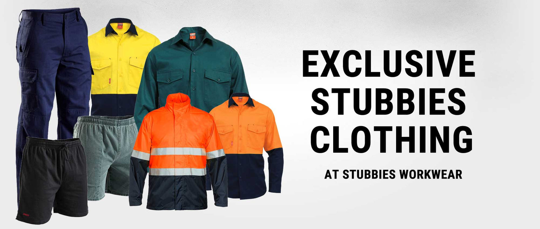 Exclusive Stubbies clothing at Stubbies Workwear