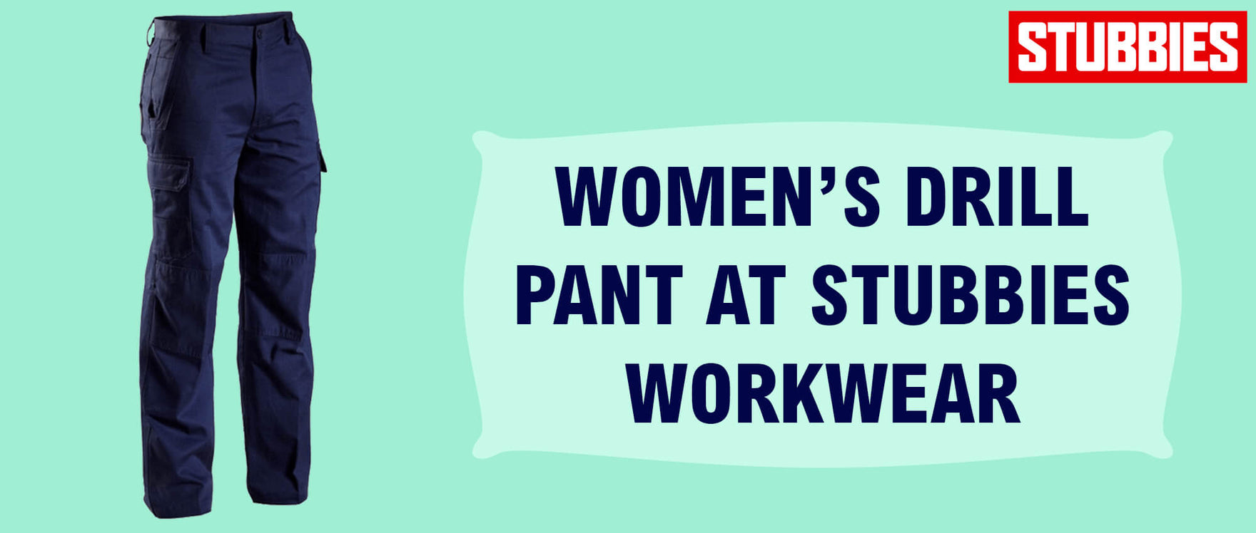 Women's Drill Pant at Stubbies Workwear