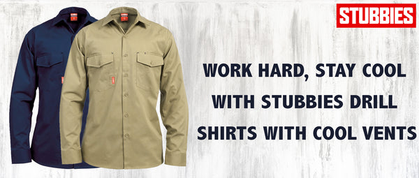 Work Hard, Stay Cool with Stubbies Drill Shirts with Cool Vents