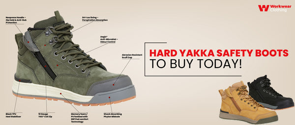 Hard yakka safety boots to buy today!