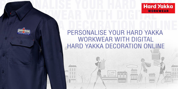 Hard Yakka workwear embroidery