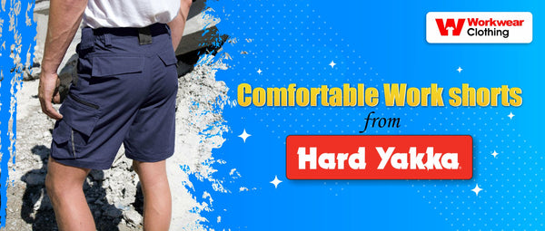 Comfortable Work shorts from Hardyakka!