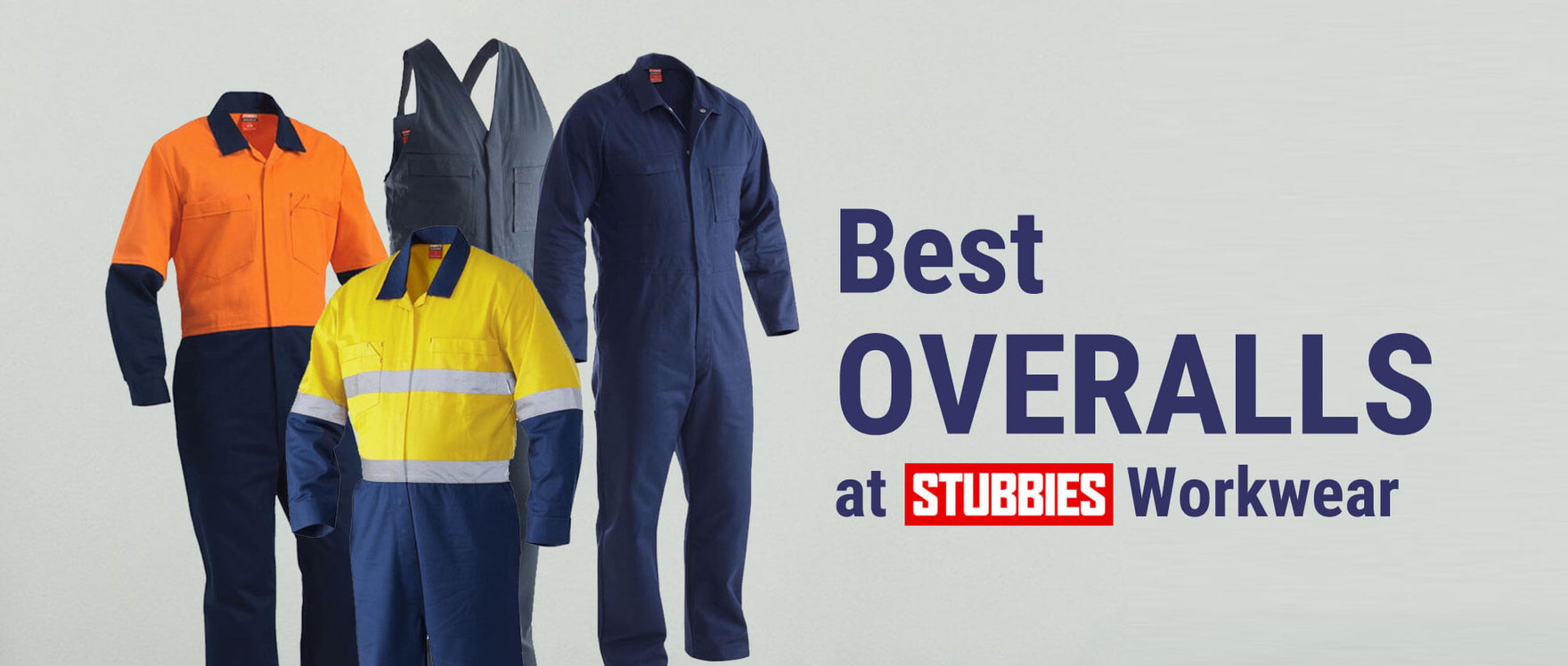 Best Work Overalls at Stubbies Workwear Australia