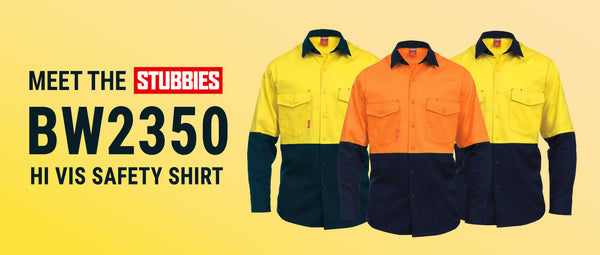 Meet the Stubbies BW2350 Hi Vis Safety Shirt