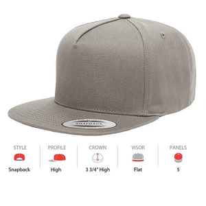 YUPOONG Classic 5 Panel - (6007)