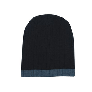 Headwear Two Tone Cable Knit Beanie - Toque (4195)