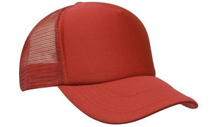 Headwear-Headwear Truckers Mesh Cap-Red / Free Size-Uniform Wholesalers - 4