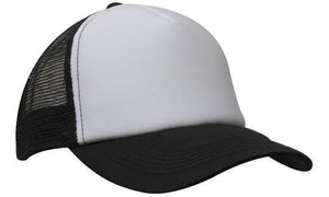 Headwear-Headwear Truckers Mesh Cap-White/Black / Free Size-Uniform Wholesalers - 7
