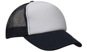 Headwear-Headwear Truckers Mesh Cap-White/Navy / Free Size-Uniform Wholesalers - 10