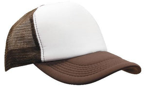 Headwear-Headwear Truckers Mesh Cap-White/Brown / Free Size-Uniform Wholesalers - 8