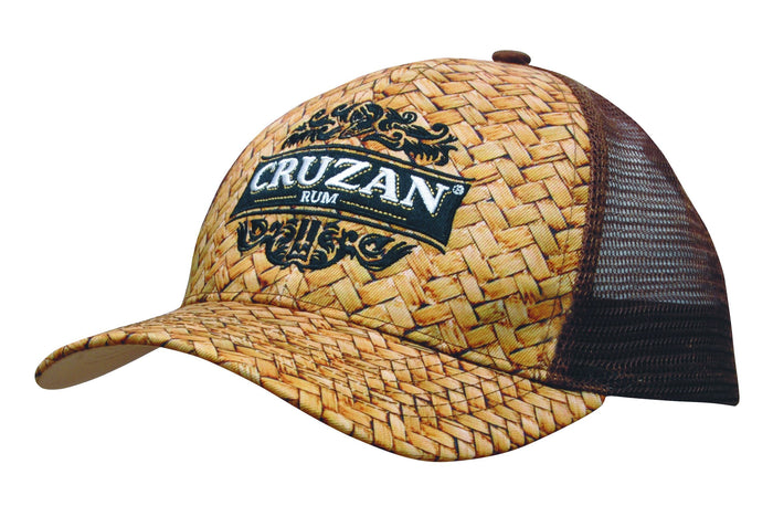 Headwear Cane Print with Mech Back (3999)