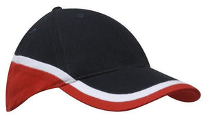 Headwear Brushed Heavy Cotton Tri-Coloured Cap (4026)