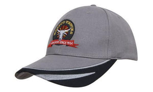 Headwear-Headwear Brushed Heavy Cotton with Peak Trim Embroidered--Uniform Wholesalers - 1