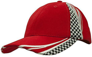 Headwear-Headwear Brushed Heavy Cotton with Embroidery & Printed Checks-Red/White / Free Size-Uniform Wholesalers - 5