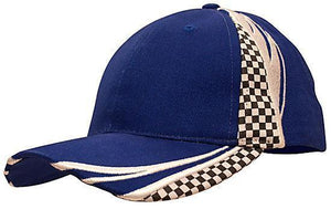 Headwear-Headwear Brushed Heavy Cotton with Embroidery & Printed Checks-Royal/White / Free Size-Uniform Wholesalers - 6