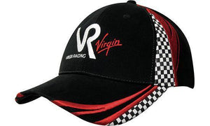 Headwear-Headwear Brushed Heavy Cotton with Embroidery & Printed Checks--Uniform Wholesalers - 1