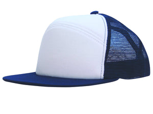 Headwear Foam Front A Frame Cap with Mesh Back (4159)