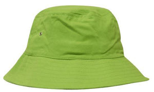 Headwear-Headwear Brushed Sports Twill Bucket Hat-Bright Green / M-Uniform Wholesalers - 8