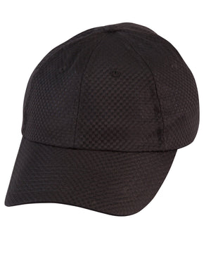 Winning Spirit-Winning Spirit Athletic Mesh Cap-Black-Uniform Wholesalers - 1