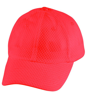 Winning Spirit-Winning Spirit Athletic Mesh Cap-Red-Uniform Wholesalers - 3