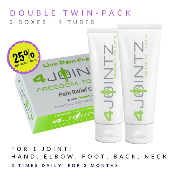 02 Double Twin-Pack | 4JOINTZ® Joint Pain Relief Cream